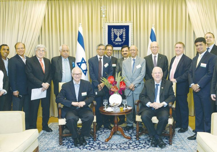 PRESIDENT REUVEN RIVLIN hosts the India-Israel Forum yesterday at his official residence in Jerusale