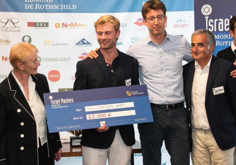 Waltraud Neuwith (L) stands with Jurrian Van Der Vaart, Daniel Goldberg and Marc Harari
