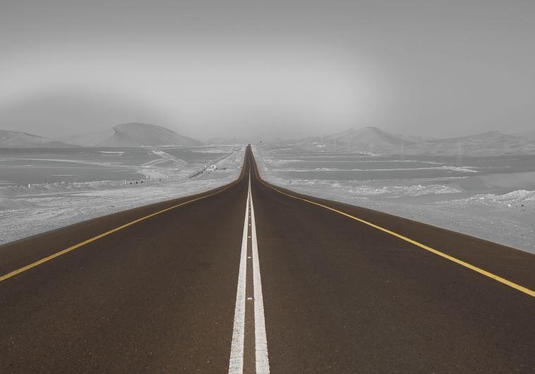 A dark highway