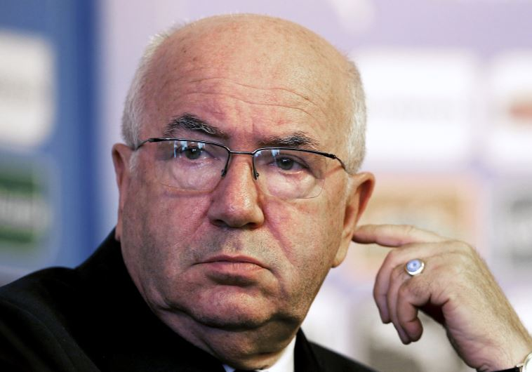 Italian Football Federation President Carlo Tavecchio