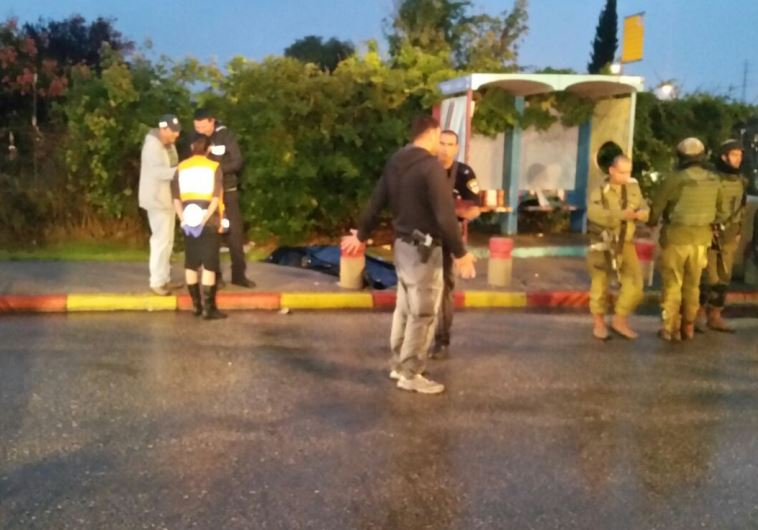 Site of attempted stabbing, Etzion Junction, November 5, 2015