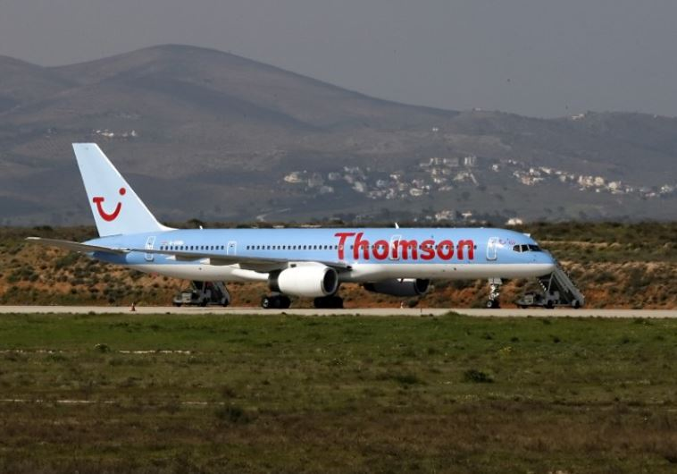 The British Boeing 757-200 operated by Thomson Airways is seen at Athens International airport