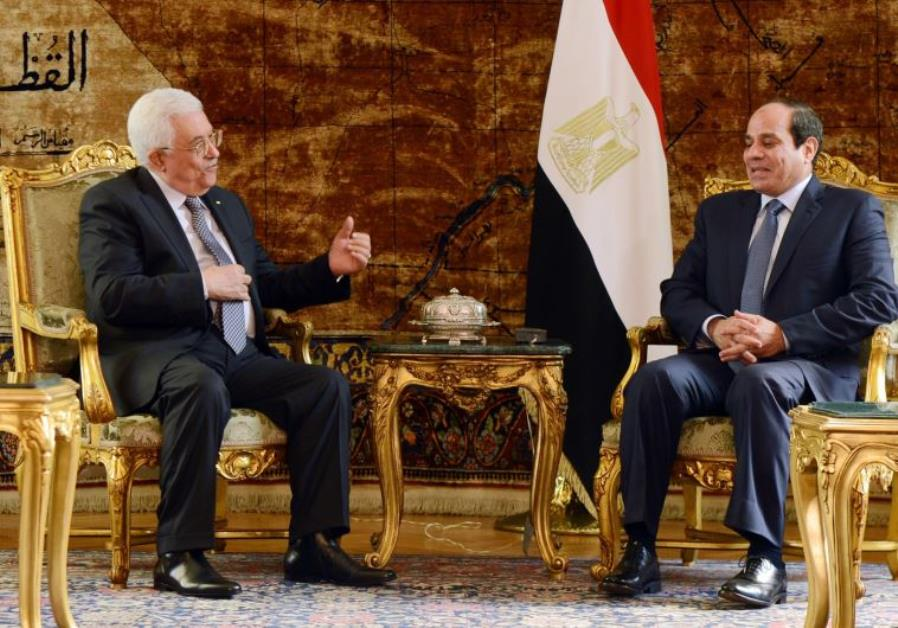 Mahmoud Abbas and Abdel Fattah al-Sisi