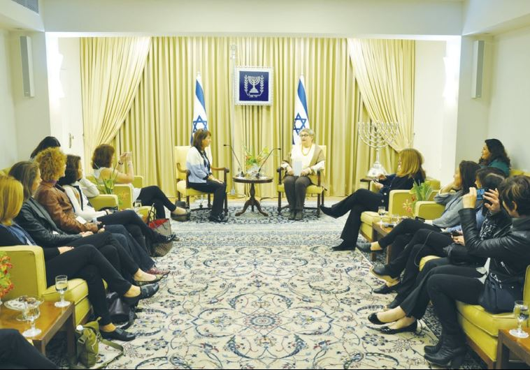 NECHAMA RIVLIN (center right), wife of the president, meets women leaders