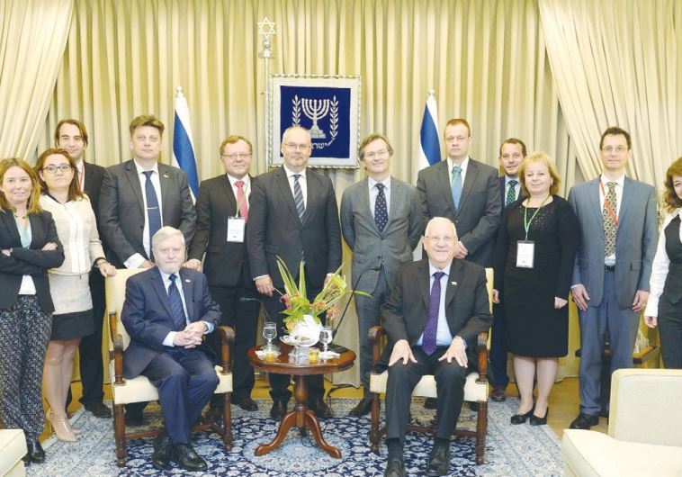 PRESIDENT REUVEN RIVLIN hosts State Comptroller Joseph Shapira and European ombudsmen