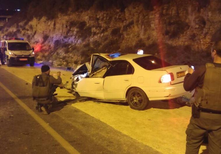 Scene of possible terror attack in Psagot