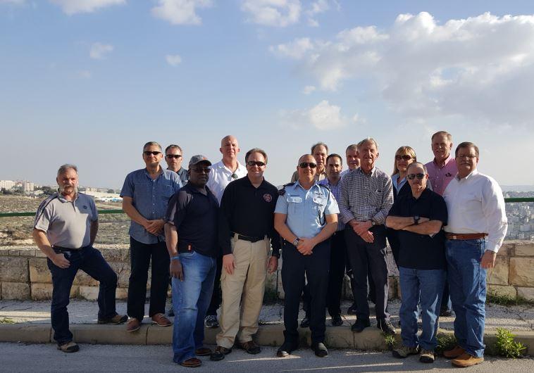 SENIOR US law enforcement officials in Jerusalem participating in LEEP, a counterterrorism exchange