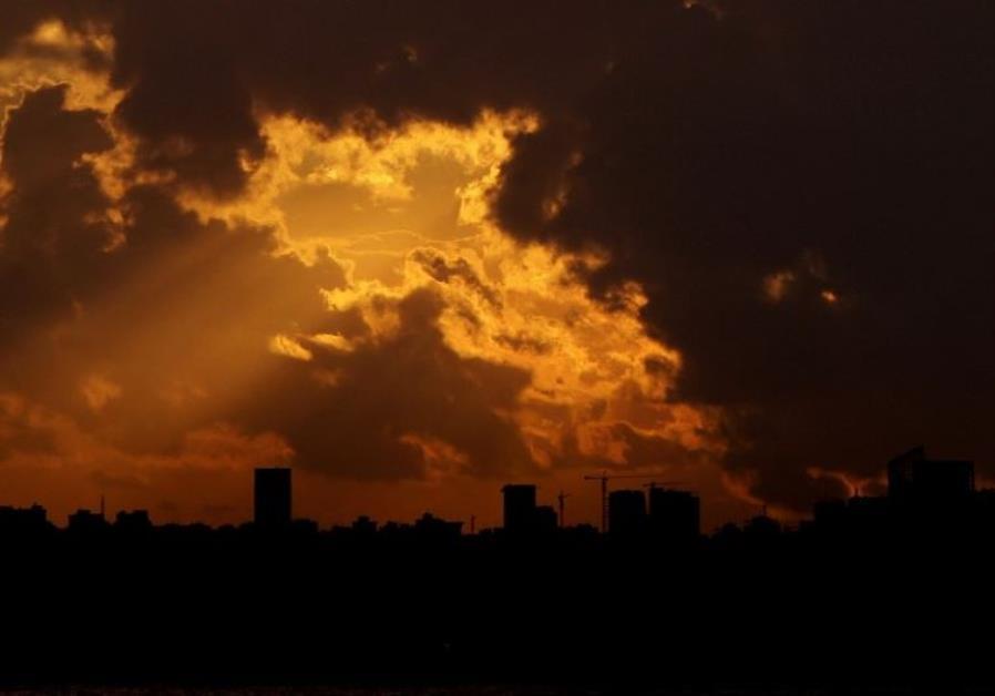 Beirut's skyline at sunset
