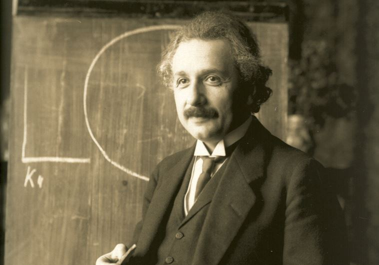 Albert Einstein lecturing in Vienna, 1921