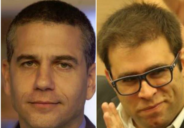 Likud MK Oren Hazan (R) and Bayit Yehudi MK Yinon Magal