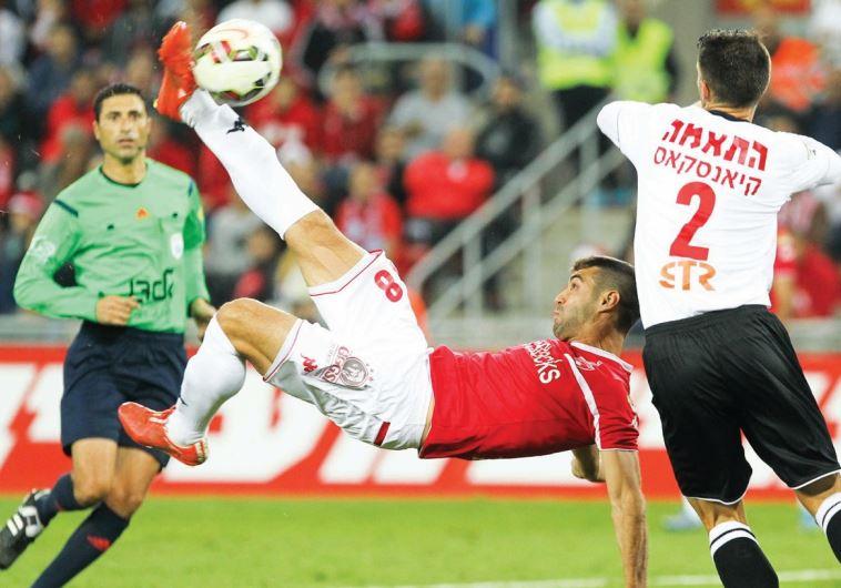 Hapoel Beersheba striker Shlomi Arbeitman's bicycle-kick goal against Hapoel Haifa was the only time