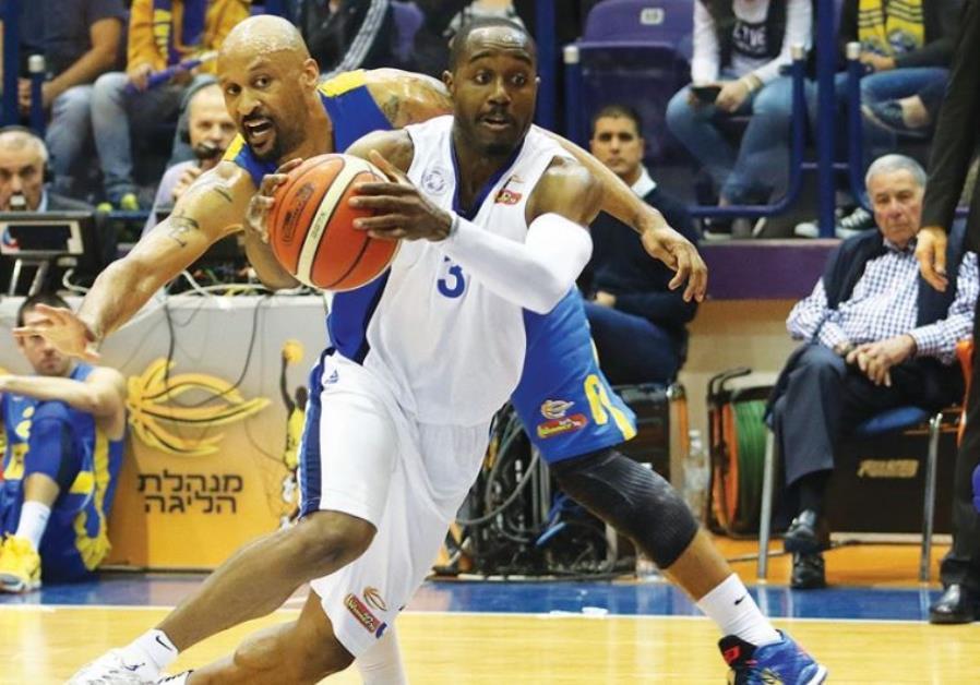 Ironi Nahariya guard Michael Umeh scored 16 points in last night's 76-70 win over Maccabi Tel Aviv