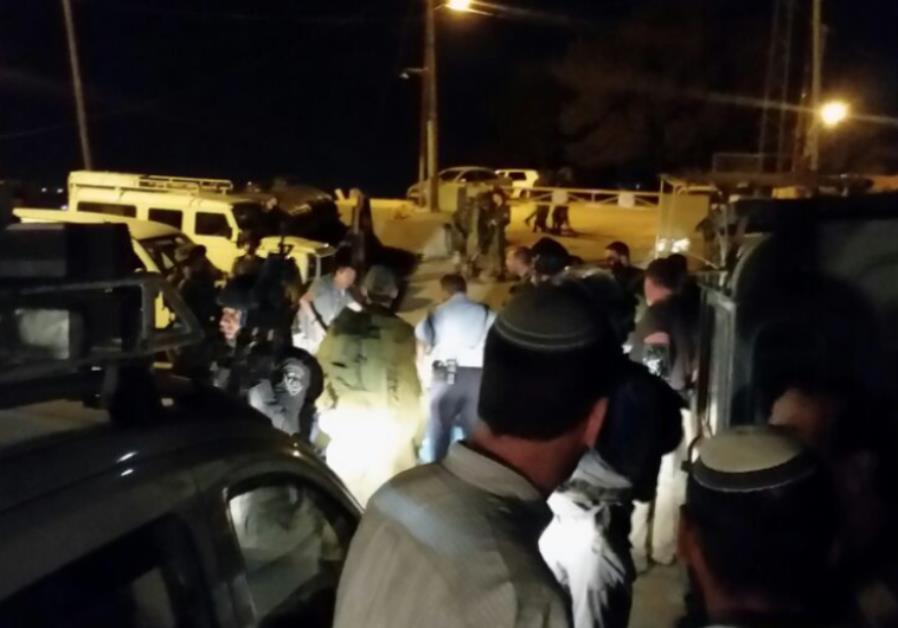 Scene of stabbing attack in Hebron, December 4, 2015.