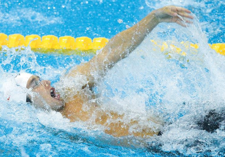 Israeli swimmer Guy Barnea