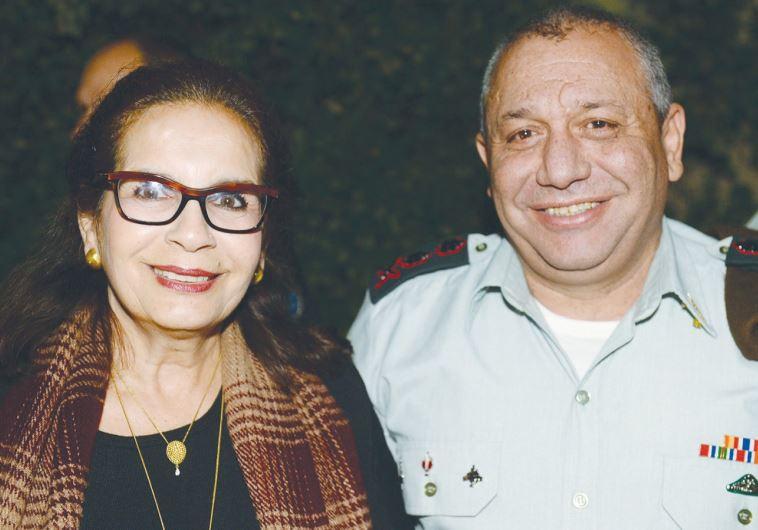 IDF WIDOWS organization chairwoman Nava Shoham and IDF Chief of Staff Lt.-Gen. Gadi Eisenkot