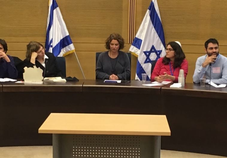 MK Michal Rozin leads a Hannuka themed discussion in Knesset on pluralism and human rights
