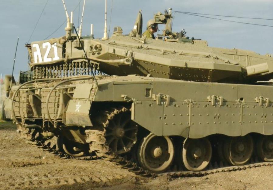 A Merkava III tank