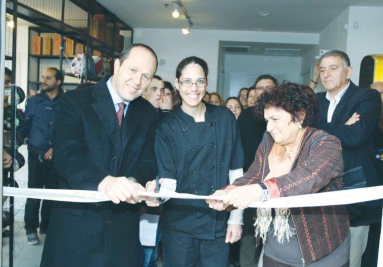 JERUSALEM MAYOR Nir Barkat attends the opening of the Bistro Harutzim special-needs café.