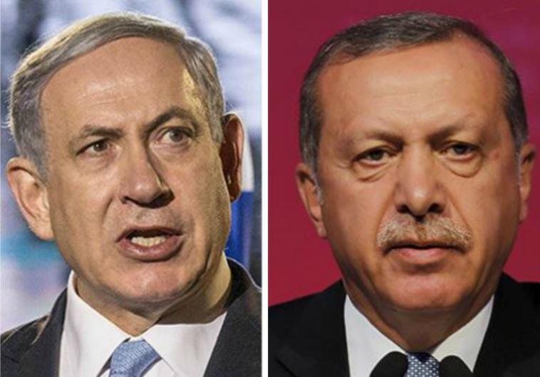 Israeli Prime Minister Benjamin Netanyahu and Turkish President Recep Tayyip Erdoğan