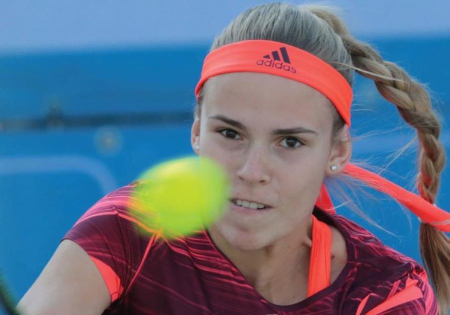 Israeli tennis star Olga Fridman