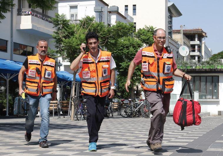 UNITED HATZALAH medics are ready for duty around the clock
