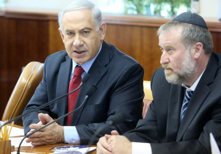 Prime Minister Benjamin Netanyahu and Attorney-General Avichai Mandelblit (Marc Israel Sellem/The Jerusalem Post)