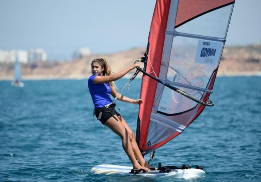 Windsurfer Noy Drihan
