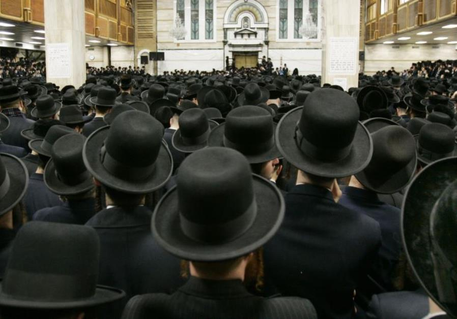 Followers of ultra-orthodox Jewish rabbi Moses Teitelbaum of the Satmar Hassidim
