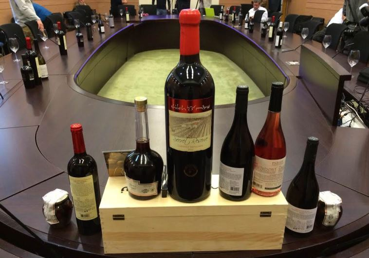 West Bank wine tasting at Knesset, December 28, 2015