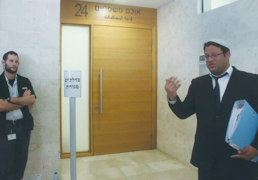 ATTORNEY ITAMAR BEN-GVIR, who is representing one of the suspects in the Duma terrorist attack