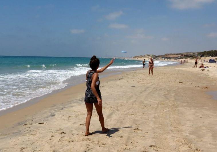Palmahim Beach in the summer