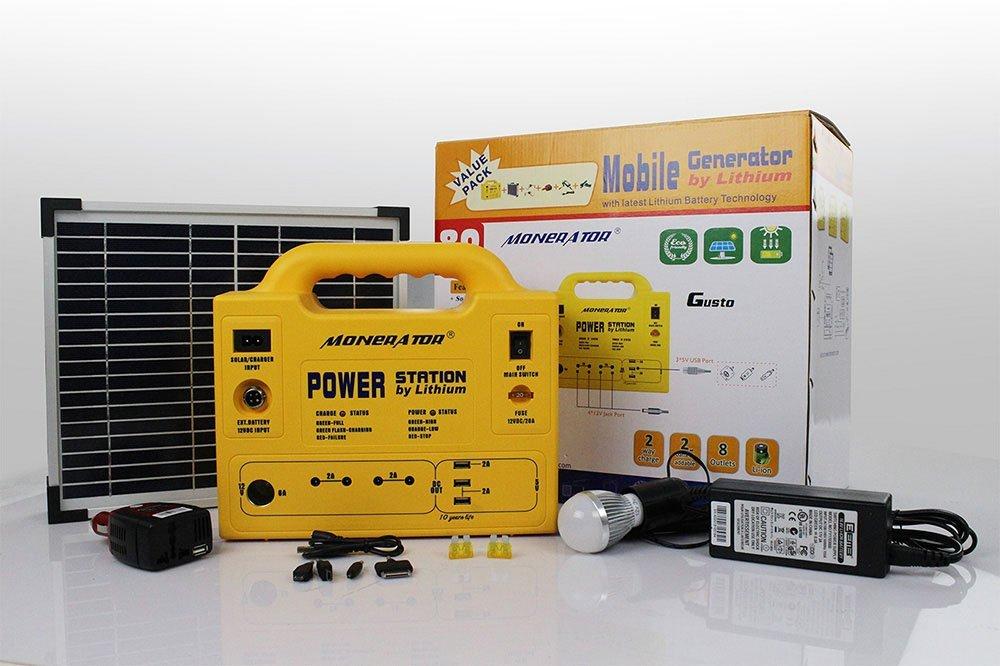 Monerator Gusto 10 Eco Kit and 10w Solar Panel