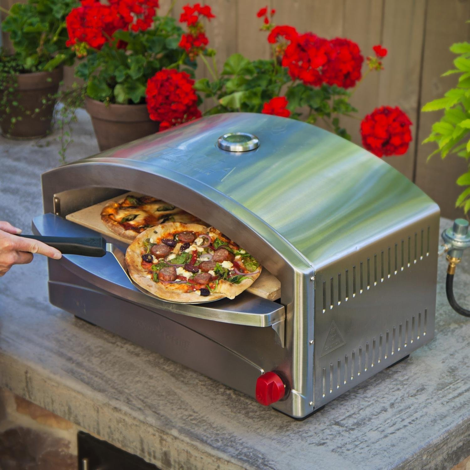 Portable wood fired pizza oven for sale - Camp Chef Italia Artisan Pizza Oven 250