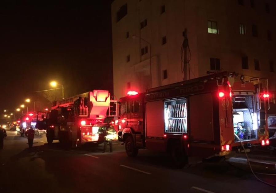 Fire at B'Tselem building Jerusalem, January 10, 2016