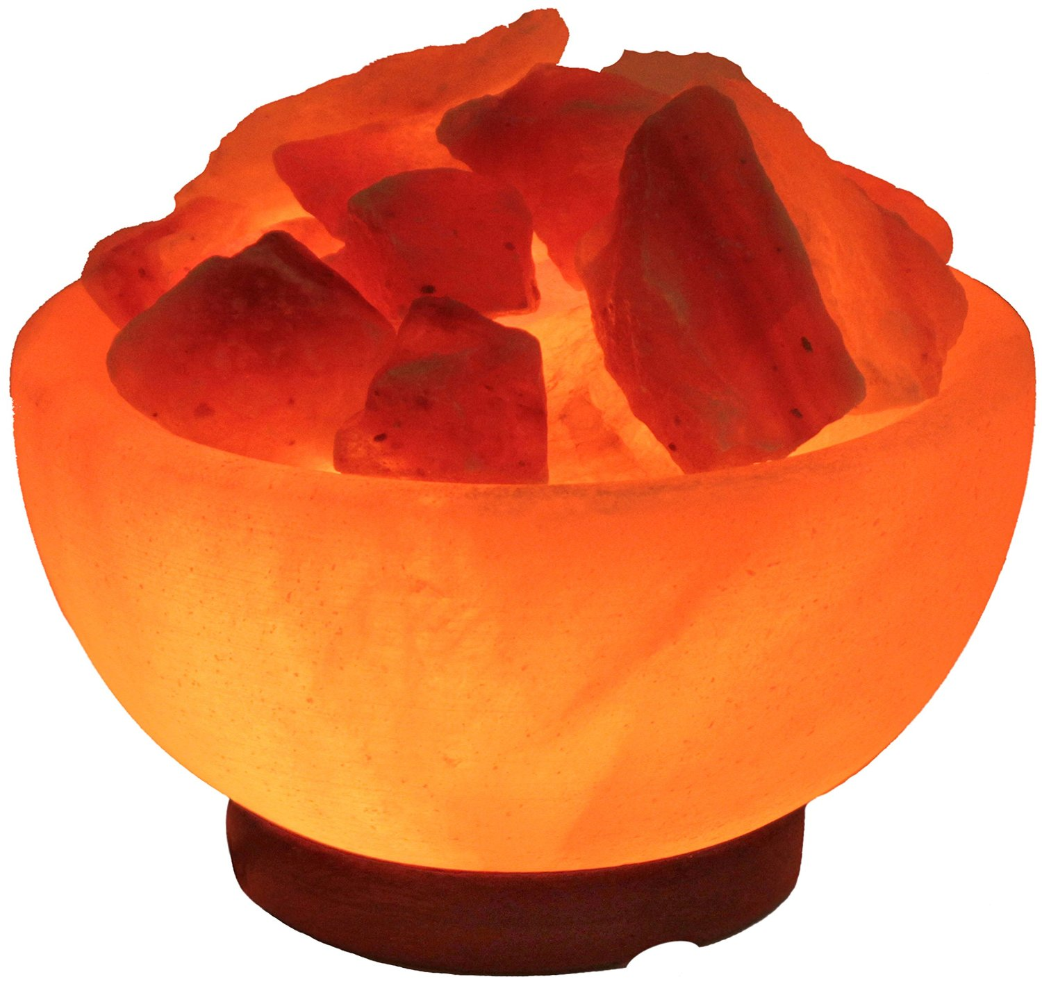 Indus Classic LFB-04 3.5-Inch Himalayan Fire Bowl Salt Lamp Natural Crystal Rock, 7-9-Pound