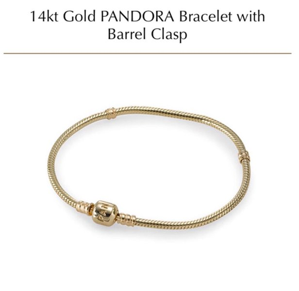 Pandora 14 Karat Gold Bracelet With Clasp 1 560