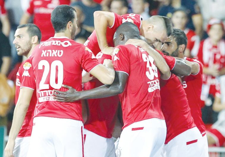 Hapoel Beersheba players had good reason to celebrate last night after beating Maccabi Petah Tikva 1