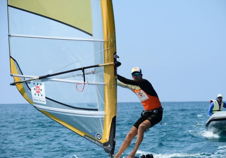 Israeli windsurfer Nimrod Mashiah