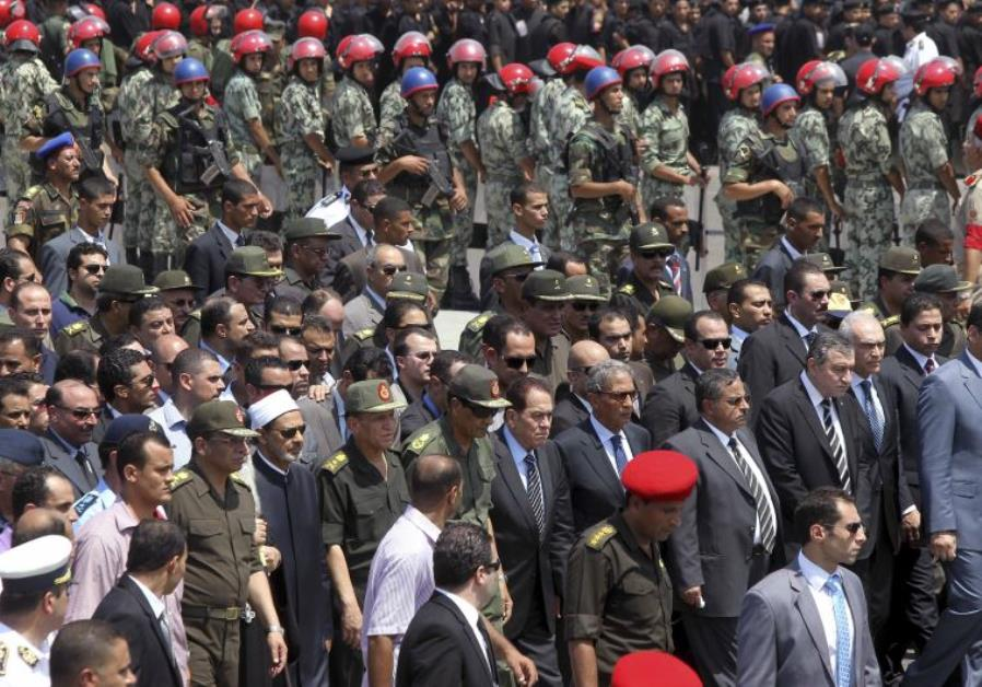 funeral of Egyptian soldiers
