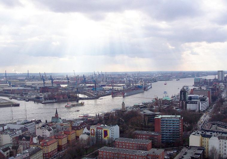 The Port of Hamburg, Germany