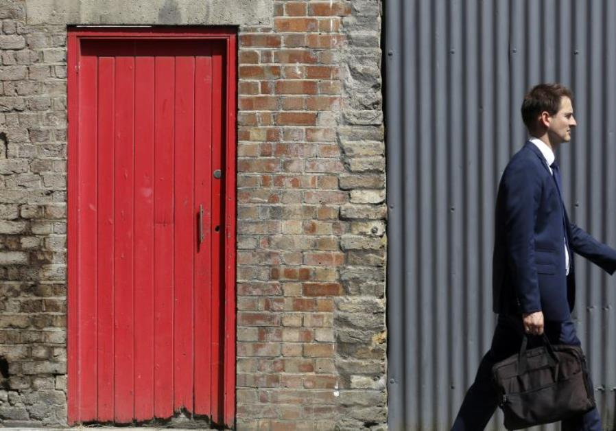 Red Doors Mark Out Asylum Seekers Houses In English Town Middle