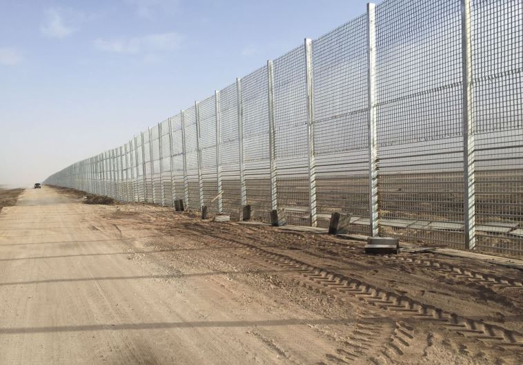 Jordan border security fence