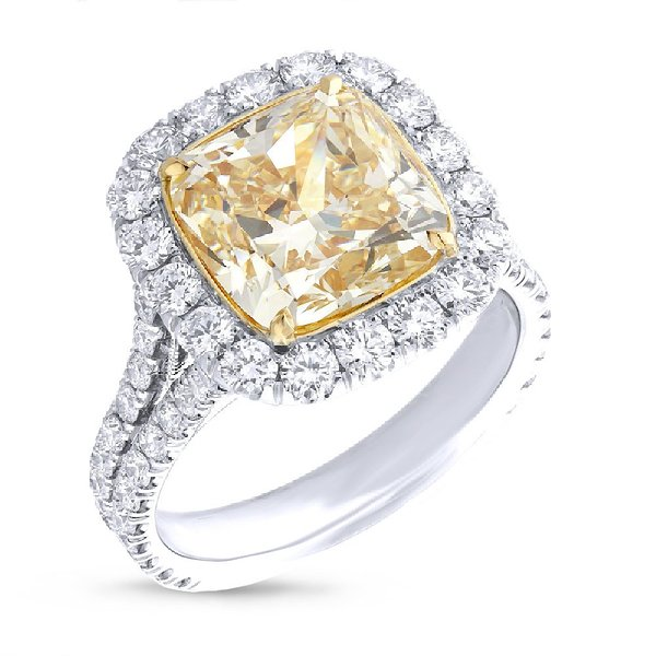 Two Tone Natural Yellow Diamond Ring 111450 Amazon