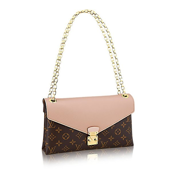 8d3145d0d49b Louis Vuitton Pallas Chain Dune Color Clutch Shoulder Bag Cross Body  Article  M50069