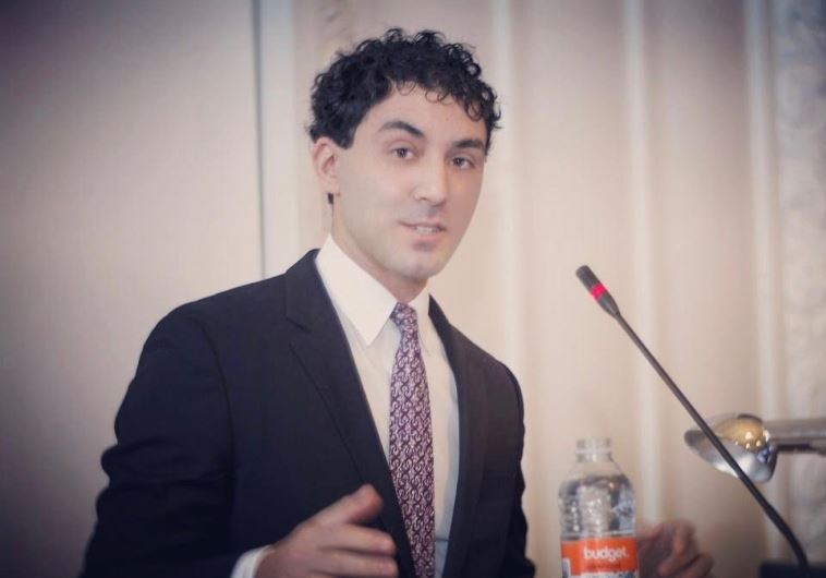 Jerusalem Post Washington bureau chief Michael Wilner delivering an address on the Syrian crisis