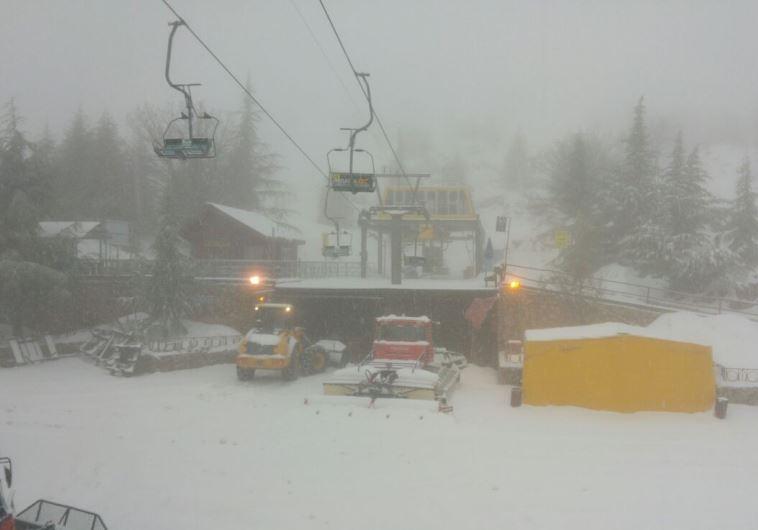Mount Hermon ski resort, January 24, 2015