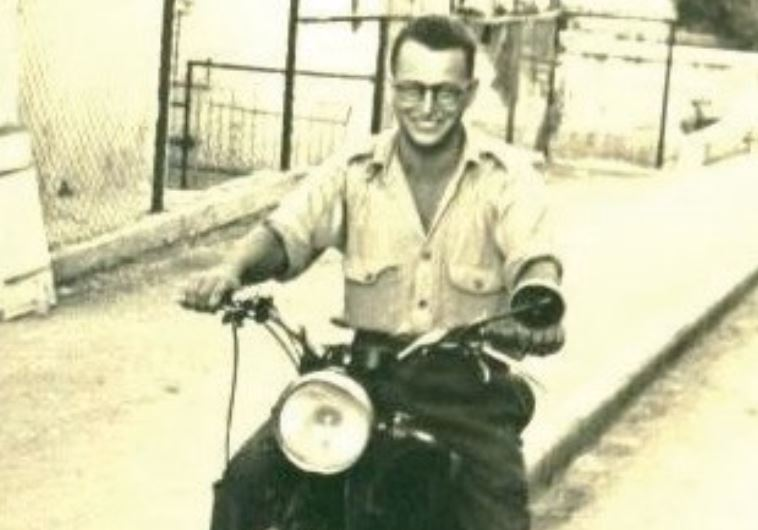 MORDECHAI SCHWARTZ on his motorcycle when he served in the Palmah.