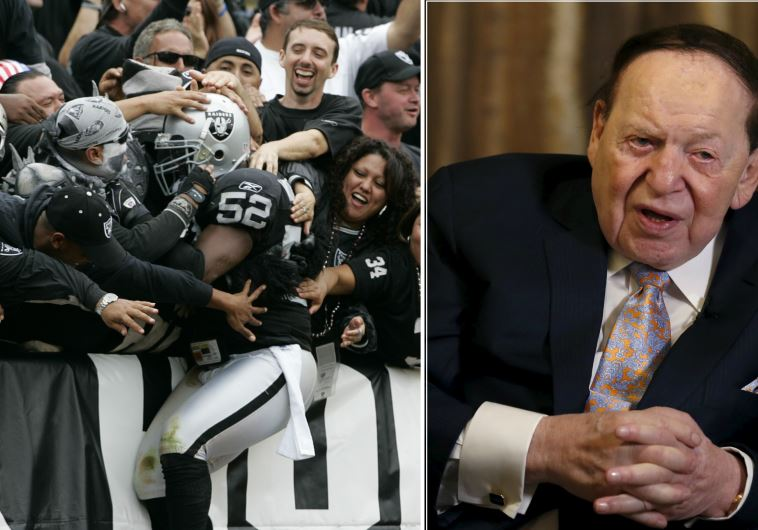 Sheldon Adelson (R) is reportedly involved in efforts to lure the Oakland Raiders to Las Vegas