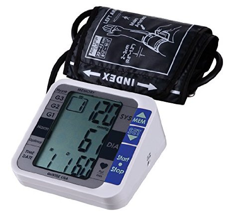 GoWISE USA Advance Control Digital Blood Pressure Monitor for Upper Arm