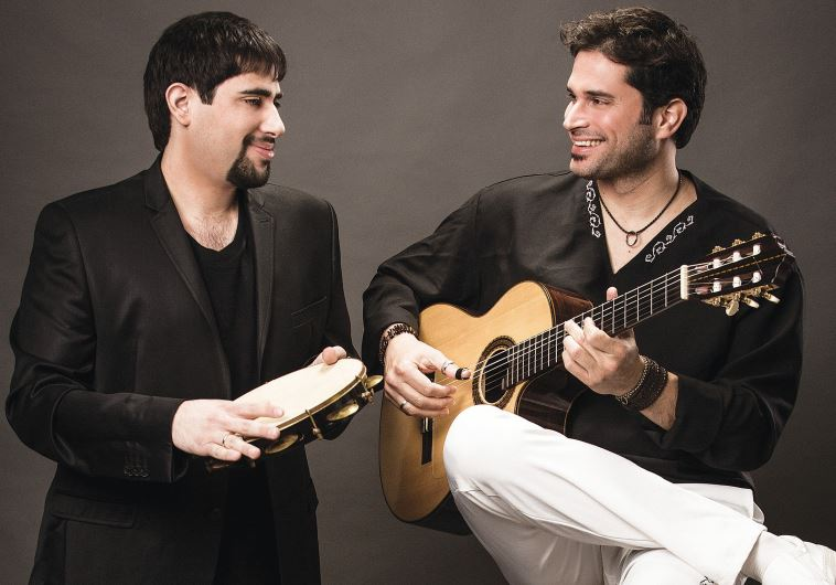 Guitarist Marcelo Nami (right) seen here with his musical partner Noam Landsman